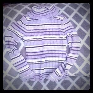$1.00Bright purple striped turtle neck